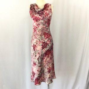 BCBG Maxazria floral silk dress